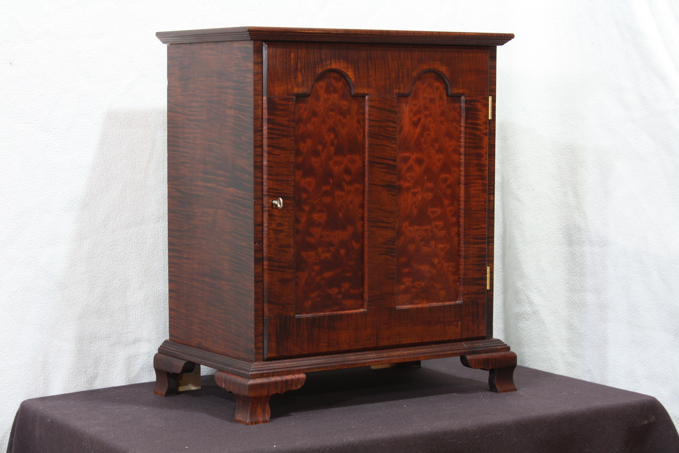 Curly Maple Spice Cabinet
